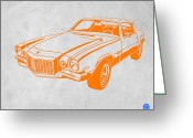 Old Paper Greeting Cards - Camaro Greeting Card by Irina  March