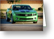 Sheild Greeting Cards - Camaro Origional Greeting Card by Amber Flowers
