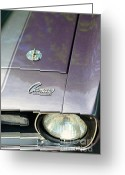 Classic Auto Greeting Cards - Camaro SS with hood pin Greeting Card by Paul Ward