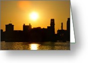Camden Greeting Cards - Camden Sunrise Greeting Card by Bill Cannon