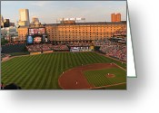 Baseball Framed Prints Greeting Cards - Camden Yards Greeting Card by Matt Zerbe
