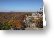 Rock Formations Greeting Cards - Camel Rock in Autumn Greeting Card by Sandy Keeton