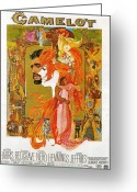 Academy Award Greeting Cards - Camelot Greeting Card by Nomad Art and  Design