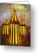 Decorative Art Greeting Cards - Camelot Restrained Greeting Card by Bob Orsillo