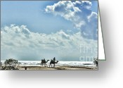 Rabat Greeting Cards - Camels Morocco Greeting Card by Chuck Kuhn