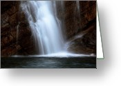 Cameron Greeting Cards - Cameron Falls in Waterton Lakes National Park of Alberta Greeting Card by Mark Duffy