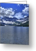 Cameron Greeting Cards - Cameron Lake Reflections Greeting Card by Don Wolf