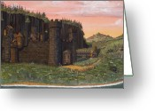 Bay Drawings Greeting Cards - Camlochlin Castle Greeting Card by James Lyman