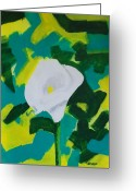 Wrap...floral Greeting Cards - Camo Calla Lilly Greeting Card by Marsha Heiken