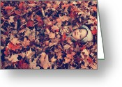 Leaves Photographs Greeting Cards - Camouflage 02 Greeting Card by Aimelle