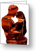 Curves Greeting Cards - Camouflage Lovers Greeting Card by Stefan Kuhn
