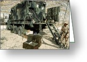 Operation Desert Storm Greeting Cards - Camouflage Netting Covers A Cargo Truck Greeting Card by Stocktrek Images