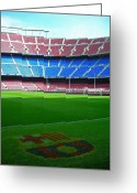 Football Photo Greeting Cards - Camp Nou - Barcelona Greeting Card by Juergen Weiss