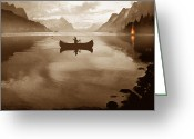Hunter Greeting Cards - Camp Waters Greeting Card by Robert Foster