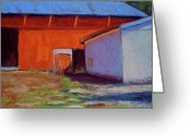 Old Barn Pastels Greeting Cards - Campbell Farm Greeting Card by Joyce A Guariglia