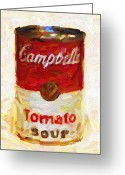 Tomato Digital Art Greeting Cards - Campbells Tomato Soup Greeting Card by Wingsdomain Art and Photography