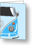 Peace Greeting Cards - Camper Blue 2 Greeting Card by Michael Tompsett