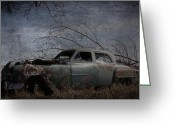 Power Lines Greeting Cards Greeting Cards - Camping Chrysler  Greeting Card by Jerry Cordeiro