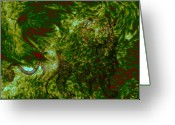Fractal Art Pastels Greeting Cards - Can you see me Greeting Card by Evelyn Patrick