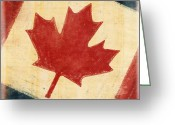 Rust Greeting Cards - Canada flag Greeting Card by Setsiri Silapasuwanchai
