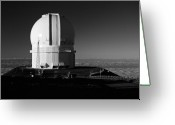 Observatories Greeting Cards - Canada France Hawaii Telescope 1 Greeting Card by Gary Cloud