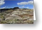 Drumheller Greeting Cards - Canadian Badlands -1 Greeting Card by Angelito De Jesus