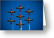 4th July Greeting Cards - Canadian Snowbirds Greeting Card by Christy Patino