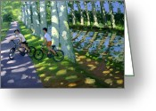 Bike Riding Greeting Cards - Canal du Midi France Greeting Card by Andrew Macara