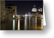 Baroque Greeting Cards - Canal Grande - Venice Greeting Card by Joana Kruse