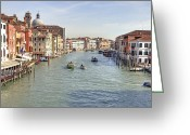Veneto Greeting Cards - Canal Grande Venice Greeting Card by Joana Kruse