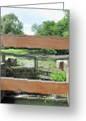Take A View Greeting Cards - Canal Lock with a View Greeting Card by Diane Stresing