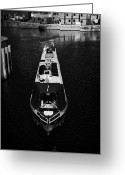 New Britain Greeting Cards - Canal Narrowboat On The Link Between The Liverpool Leeds Canal And The Albert Dock Liverpool Merseys Greeting Card by Joe Fox