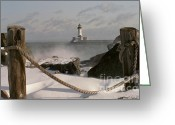 Duluth Greeting Cards - Canal Park Lighthouse Greeting Card by Heidi Hermes