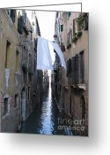 Europe Greeting Cards - Canal. Venice Greeting Card by Bernard Jaubert