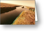 Percival Greeting Cards - Canals On Mars Greeting Card by Detlev Van Ravenswaay