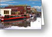 Noth Greeting Cards - Canalside Greeting Card by Peter Jenkins