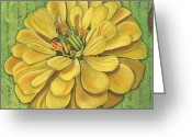 Canary Greeting Cards - Canary Dream Greeting Card by Debbie DeWitt