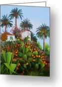 Dominica Alcantara Greeting Cards - Canary Islands Memories Greeting Card by Dominica Alcantara