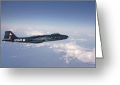 Raf Greeting Cards - Canberra BI 8 Greeting Card by Pat Speirs
