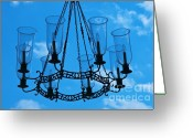 Wilmington Greeting Cards - Candle in the sky Greeting Card by Hideaki Sakurai