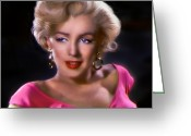 Marylin Greeting Cards - Candle in the Wind Greeting Card by Julie L Hoddinott