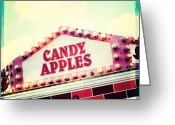 Fairgrounds Greeting Cards - Candy Apples Greeting Card by Kim Fearheiley