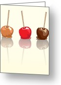 Caramel Greeting Cards - Candy apples reflected Greeting Card by Jane Rix