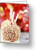 Dipped Greeting Cards - Candy Apples Greeting Card by Stephanie Frey