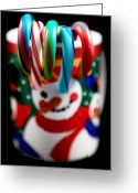 Kitchen Photos Greeting Cards - Candy Cane Colors Greeting Card by John Rizzuto