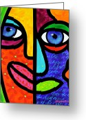 Abstract Bright Color Greeting Cards - Candy Dandee Greeting Card by Steven Scott