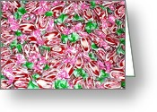 Preppy Greeting Cards - Candy is Dandy Greeting Card by Beth Saffer
