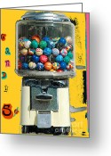 Cent Greeting Cards - Candy Machine Greeting Card by aDSPICE sTUDIOS Kids