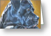 L.a.shepard Greeting Cards - Cane Corso Greeting Card by Lee Ann Shepard