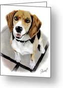 Friend Greeting Cards - Canine Cutie Greeting Card by Ferrel Cordle